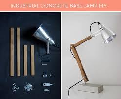 Diy Mini Desk Lamp Ikea Hack How To Make An Industrial Concrete Base Lamp Diy