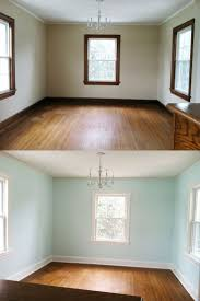 Worldly Gray Walls And Trim by Painting Trim A Before And After Wall Colors Living Rooms And