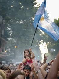 Argentine Flag In Politically Polarized Argentina Some View New President With