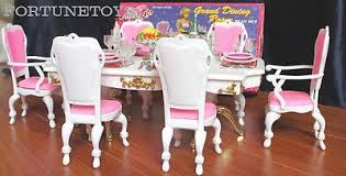 Barbie Dining Room Set Gloria Dollhouse Furniture Size Grand Dining Room W Table Play