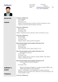 English Teacher Resume Examples by Teaching Cv Template Ireland
