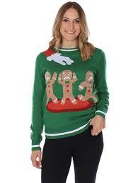 amazon com women u0027s ugly christmas sweater gingerbread