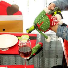 aliexpress com buy 1pc homestia xmas skirt style wine bottle