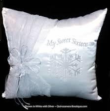 wedding kneeling pillows snowflake magic kneeling pillow quinceanera and sweet 16 pillow