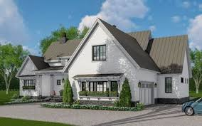 farmhouse plans with photos modern farmhouse plan with 3 beds down and bonus over garage