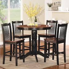 shop homelegance andover antique oak black 5 piece dining set with