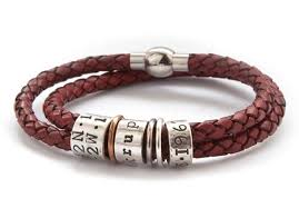 red bracelet men images Mens leather and silver story bracelet by morgan french jpg