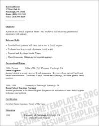 student entry level dental assistant resume template pertaining to