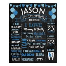 1st birthday chalkboard 16x20 hot air balloon birthday chalkboard poster zazzle