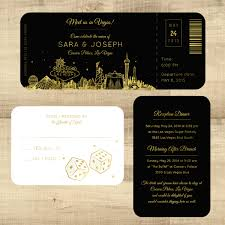 wedding invitations las vegas foil plane ticket to las vegas las vegas wedding invitation pixie