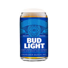 is bud light made with rice bud light 2 pack can beer glass 16oz amazon co uk kitchen home