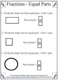 fraction printable worksheets printable fraction worksheets equal parts