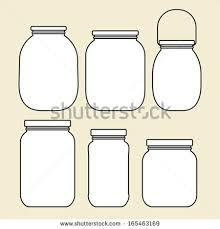 set jars template stock vector 165463169 shutterstock