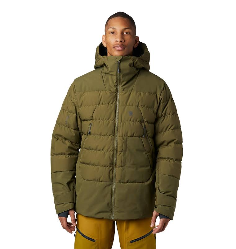 Mountain Hardwear Direct North Gore Windstopper Down Jacket Combat Green Large 1851271353-L