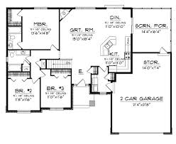 3 bedroom ranch house floor plans floor plans aflfpw76173 1 story craftsman home with 3 bedrooms