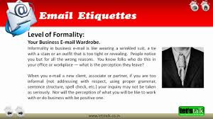 Greeting In Business Email by Email Etiquette Training Youtube