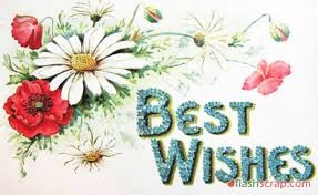 best wishes scraps and shopping wall greetings