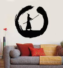 vinyl wall decal japanese samurai warrior circle enso zen asian vinyl wall decal japanese samurai warrior circle enso zen asian stickers ig3032