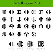 monogram decals monogram decals baloo designs