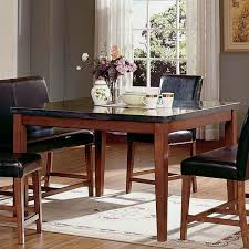 Silver Dining Table And Chairs Steve Silver Bello Granite Square Counter Height Dining Table In