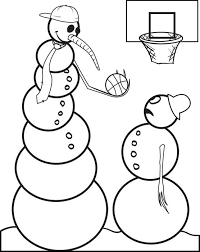 free printable snowman coloring kids 6