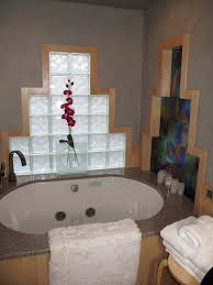 Glass Block Bathroom Designs Bathroom Remodel Using Frameless Glass Block Window With Decora Lx