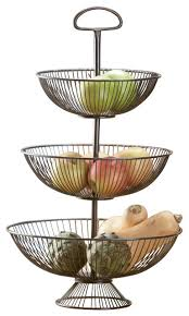 fruit basket stand 3 tier wire basket stand 24 contemporary fruit bowls and