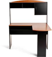 Black Desk With Hutch Mainstays L Shaped Desk With Hutch Black U0026 Cherry 9324056pcom Ebay