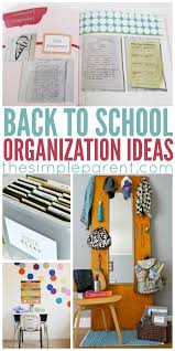 back to organization ideas