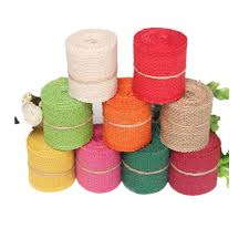 colored burlap ribbon 2meter 6cm candy color burlap ribbon roll gift linen diy