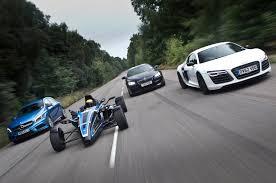 bmw vs audi race road 1 0 litre formula ford ecoboost vs audi r8 bmw m6 and