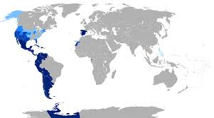 Spain On A Map by Spanish Language Wikipedia