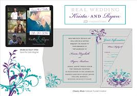 Regency Wedding Invitations Beautiful Teal And Purple Weddingtruly Engaging Wedding Blog
