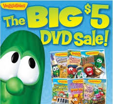 veggie tales 5 dollar dvd sale with free shipping code