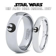 wars wedding bands wars rebel alliance his and hers tungsten ring set zealot