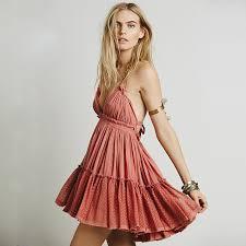 chic dress summer dress women backless dress boho strapless