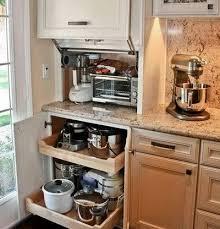 kitchen appliance storage cabinet 40 appliance storage ideas for smaller kitchens small