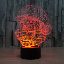 Creative Lovely How To Change by Aliexpress Com Buy Lovely Mario Table L Touch Switch 3d Led