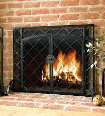 flat fireplace screens home depot leaf screen target modern brass