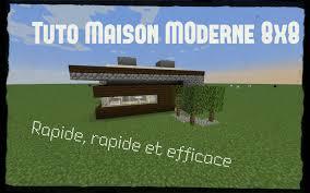 Maison Modern Minecraft by Minecraft Tuto Maison Moderne 8x8 Youtube