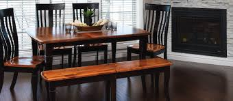 in home decor amish dining table legs live edge furniture the manitoba dining