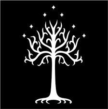 white tree of gondor lord of the rings vinyl die cut decal sticker