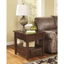 signature design by ashley end table gately rectangular end table medium brown set of 1 t845 3 by