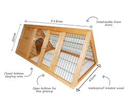 Ferret Hutches And Runs Triangle Portable Rabbit Hutch Cover Available Charles Bentley