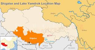 Map Of Georgia Lakes Shigatse Yamdrok Lake Maps Shigatse City Map Yamdrok Lake