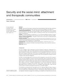 security and the social mind attachment and therapeutic