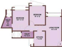 Marina Square Floor Plan 1015 Sq Ft 2 Bhk 2t Apartment For Sale In Gurukrupa Marina Enclave