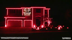 halloween light decoration ideas halloween light show 2011 thriller youtube