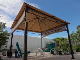 Metal Pergolas With Canopy by Sunjoy Havenbury Gazebo Replacement Canopy And Netting Set Garden