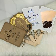 where to print wedding programs personalized wedding program paddle fans with metallic foil print